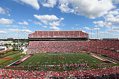 General view of the Louisville Cardinals game against the Wake Forest Demon Deacons at Papa John's Cardinal Stadium on September 27 2014 in...