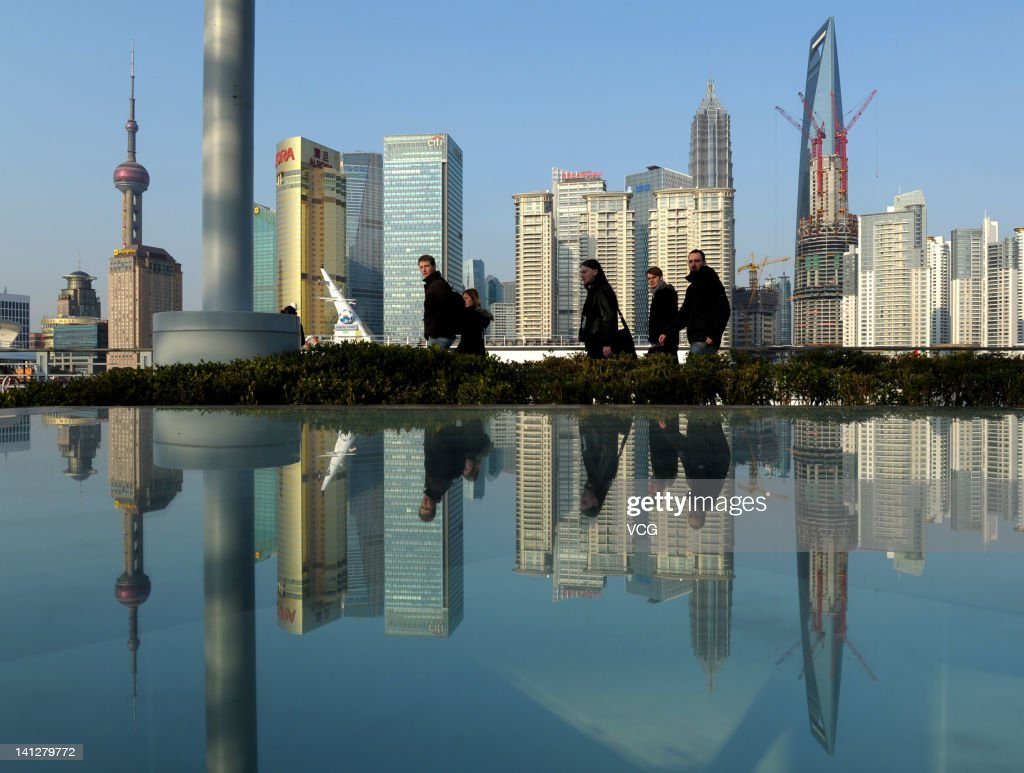 A general view of the Lujiazui Finance and Trade Zone on March 13, 2012 in Shanghai, China. Shanghai embraced a sunny day on Tuesday, as the cold wet weather has persisted for over a month.