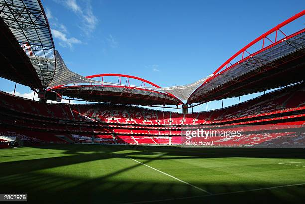 General view of the Luz Stadium home to SL Benfica taken during a photoshoot held on December 3 2003 in Lisbon Portugal The stadium will be used as...
