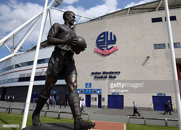 A general view of the Macron Stadium during the Sky Bet Championship match between Bolton Wanderers and Derby County at the Macron Stadium on August...