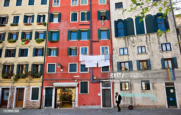 A general view of the main 'campo' of the Ghetto on November 15 2011 in Venice Italy Established in 1516 the Ghetto of Venice was the area where Jews...