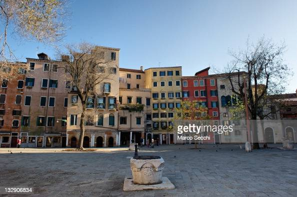 A general view of the main 'campo' of the Ghetto on November 15 2011 in Venice Italy Established in 1516 the ghetto of Venice was an area where Jews...