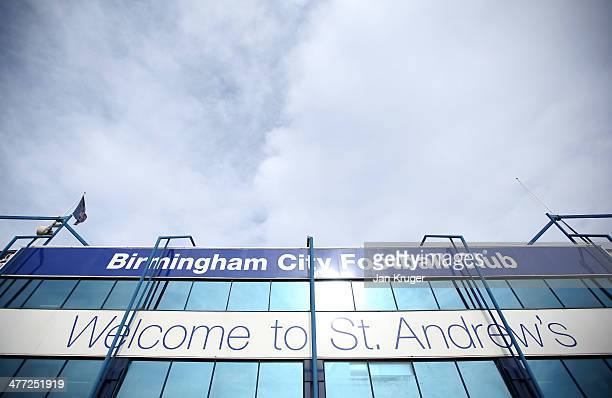 General view of the main entrance ahead the Sky Bet Championship match between Birmingham City and Queens Park Rangers at St Andrews Stadium on March...