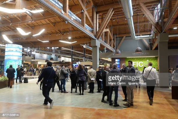 general view of the main entrance of FICO as shown on the press preview at CAAB FICO Agro Food Center on November 9 2017 in Bologna Italy Fico it's...