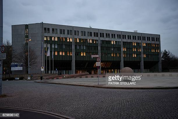 A general view of the main entrance of the German Federal Ministry for Environment Nature Conservation Building and Nuclear Safety is seen in Bonn...