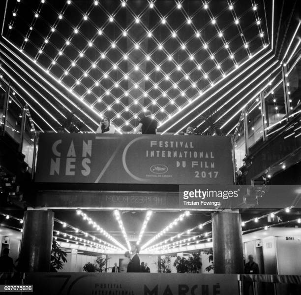 A general view of the main entrance to The Palais des Festivals et des Congres at the 70th Annual Cannes Film Festival on June 1 2017 in Cannes...