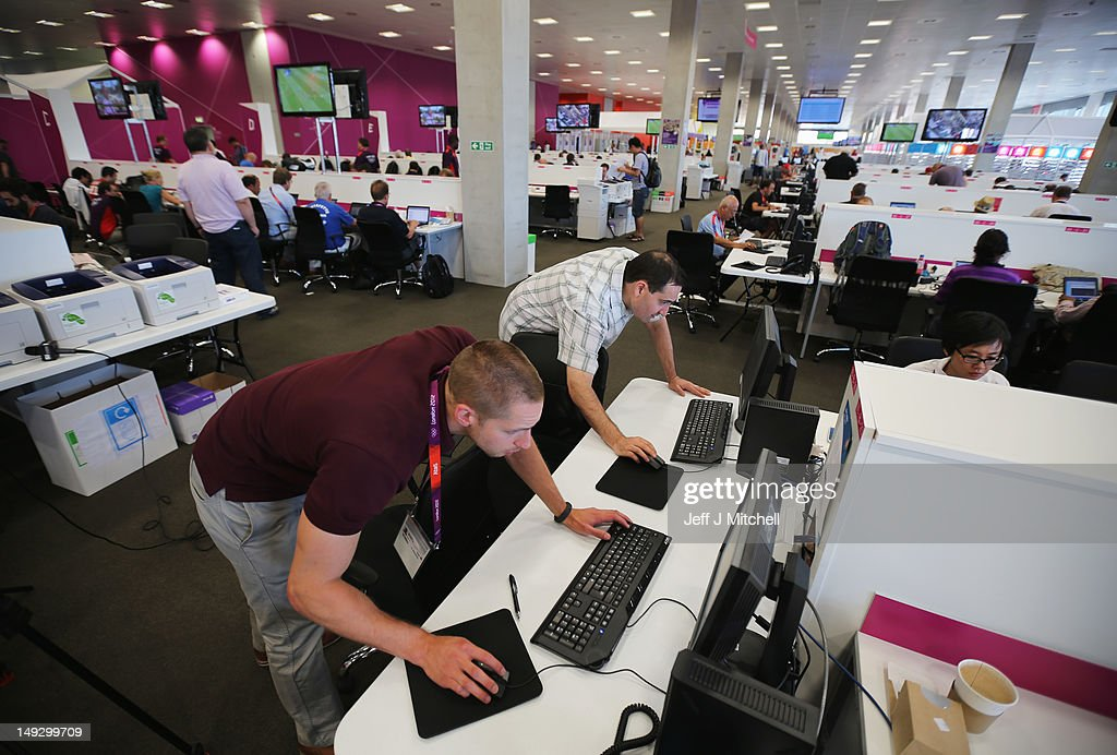 A general view of the Main Press Centre ahead of the London 2012 Olympics at the Olympic Park on July 26 2012 in London England