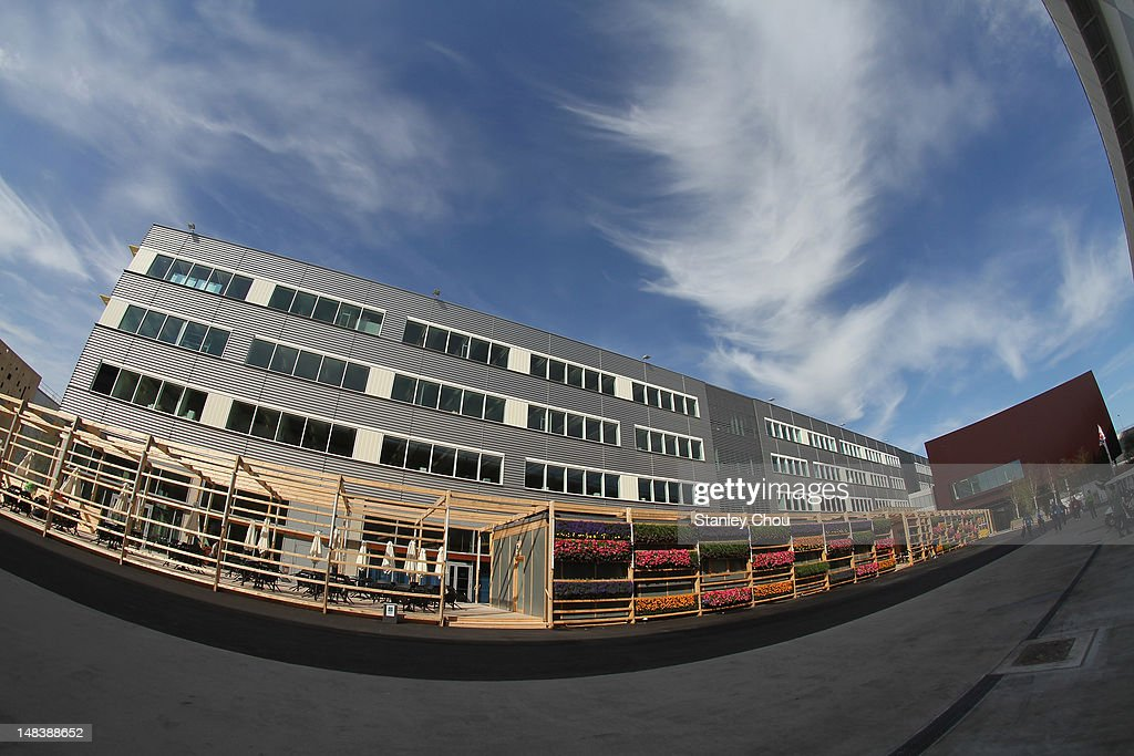 A general view of the Main Press Centre at the Olympic Park on July 15 2012 in London England