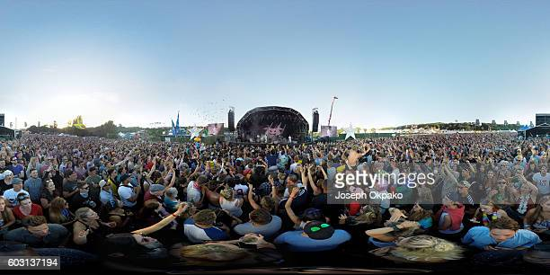 General view of the main stage on Day 4 of Bestival at Robin Hill Country Park on September 11 2016 in Newport Isle of Wight