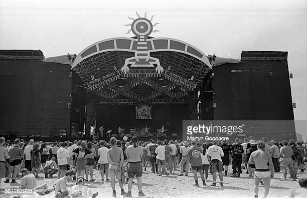 General view of the main stage Phoenix Festival StratfordUponAvon while NOFX perform United Kingdom 1994