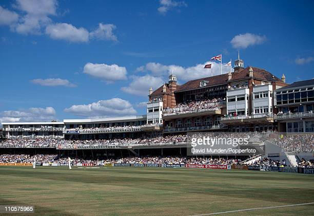 General view of the main stand and the pavilion during the 2nd One Day International match played The Kennington Oval cricket ground London on the...