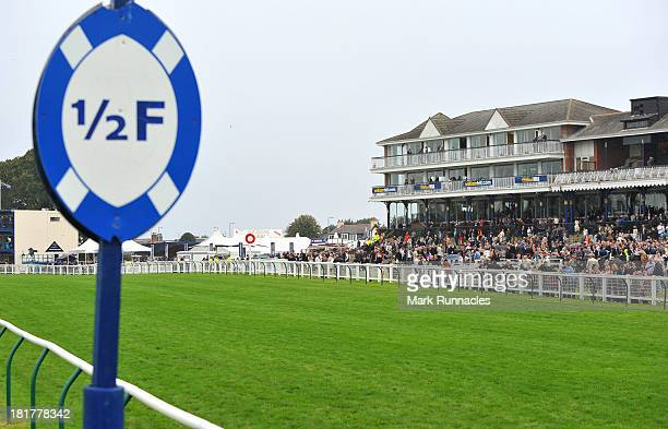 A general view of the main stand at Ayr racecourse on September 21 2013 in Ayr Scotland
