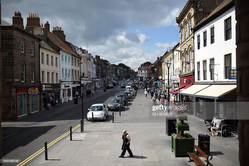 A general view of the main street in the centre of the border town of Berwick-upon-Tweed in northern England close to the border between England and Scotland on June 26, 2016. Scotland's First Minister Nicola Sturgeon campaigned strongly for Britain to remain in the EU, but the vote to leave has given the Scottish National Party leader a fresh shot at securing independence. Sturgeon predicted more than a year ago that a British vote to leave the alliance would give pro-European Scots cause to hold a second referendum on breaking with the UK. SCARFF
