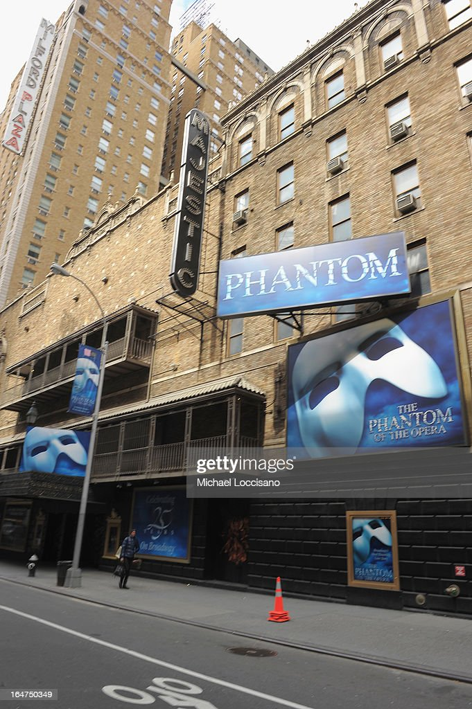 A general view of the Majestic Theatre on March 22, 2013 in New York City.