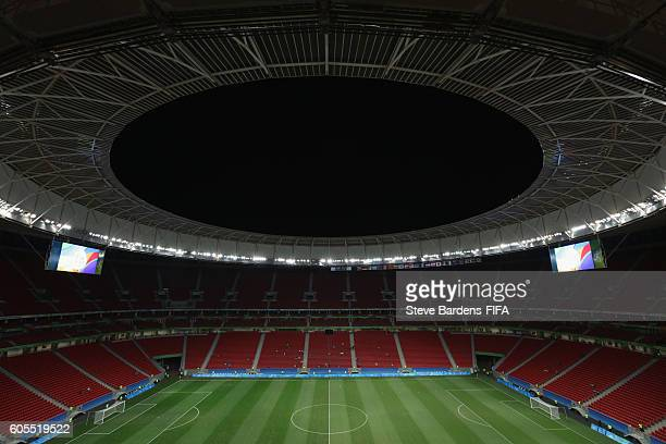 General view of the Mane Garrincha Stadium prior to the Women's First Round Group E match between China PR and Sweden on Day 4 of the Rio 2016...