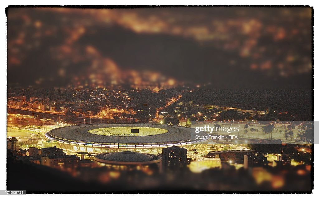 A general view of the Maracana stadium from the Christ the redeemer staute on June 26, 2013 in Rio de Janeiro, Brazil. (Photo by Stuart Franklin - FIFA/FIFA via Getty Images). The Maracana stadium will be used for both the FIFA Confederations Cup Brazil 2013 final and the FIFA World Cup 2014 final.