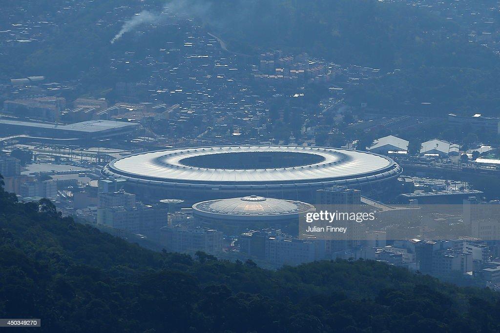 A general view of the Maracana stadium on June 9, 2014 in Rio de Janeiro, Brazil.