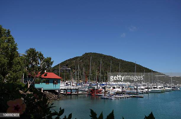 A general view of the marina on Hamilton Island on November 6 2010 in the Whitsundays Australia Denise and Mark DuffieldThomas winners of 'The...