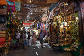 General view of the Markets on September 12 2014 in Marrakech Morocco