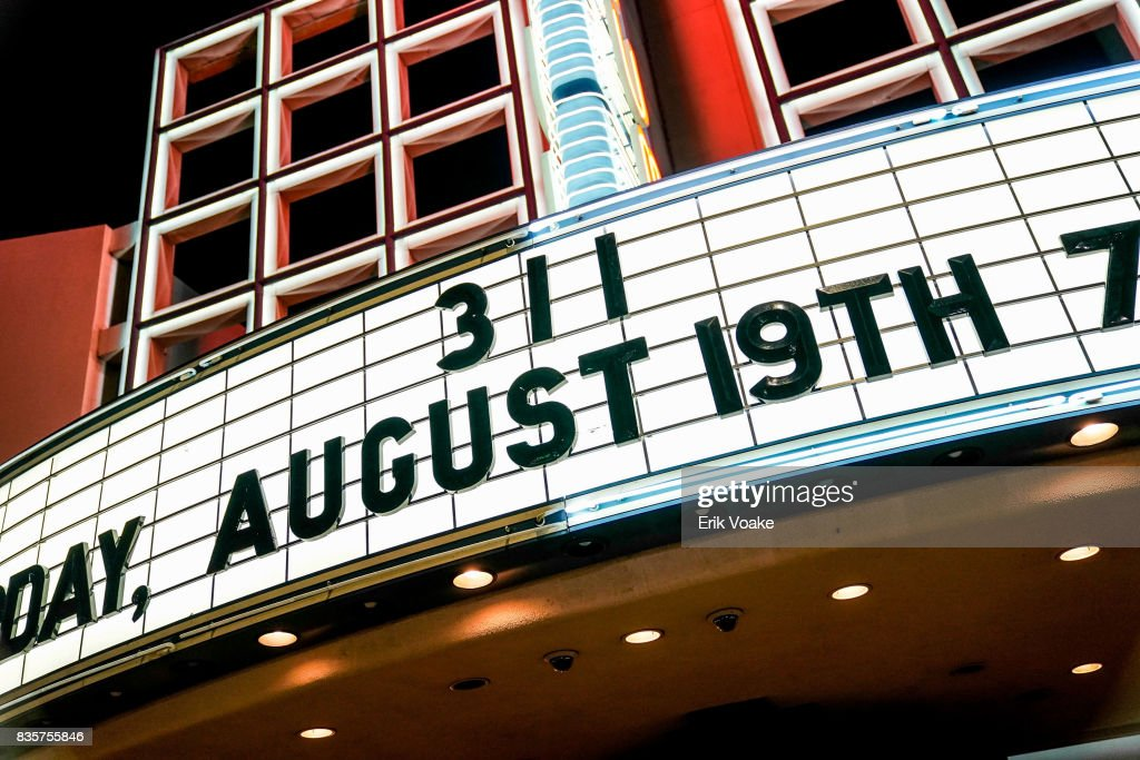 General view of the marquee at 311's performance at Hollywood Palladium on August 19, 2017 in Los Angeles, California.