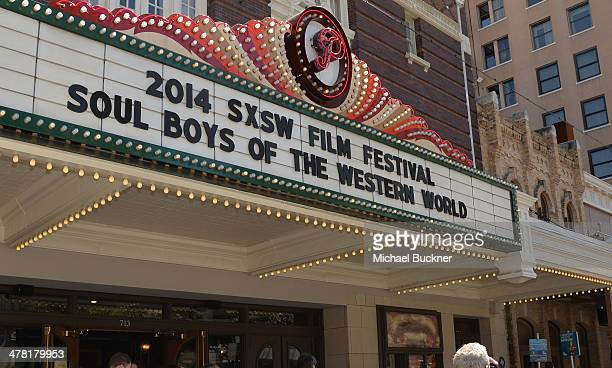 A general view of the marquee during the screening of 'The Soul Boys of The Western World' during the 2014 SXSW Music Film Interactive Fetival at the...