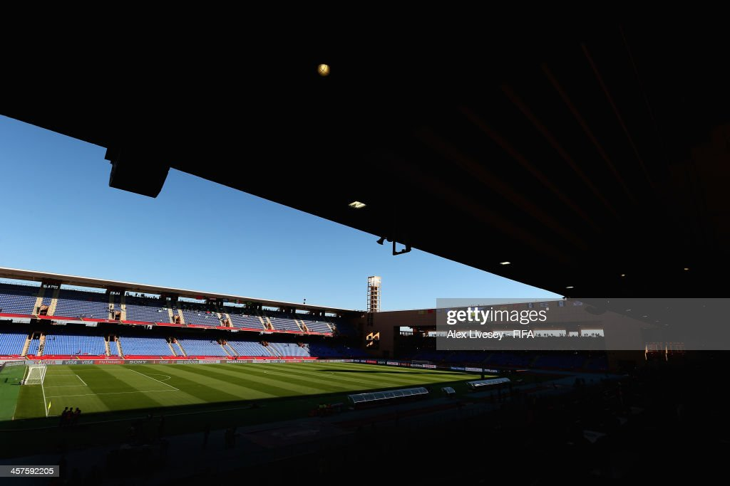 A general view of the Marrakech Stadium is seen prior to the FIFA Club World Cup 5th place match between Al Ahly SC and CF Monterrey at the Marrakech...
