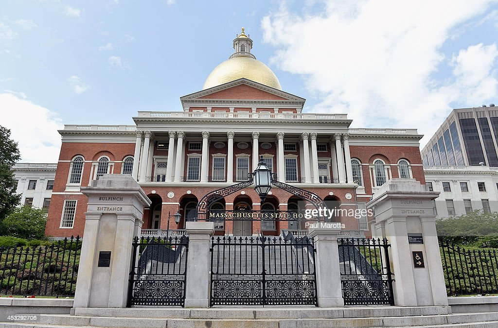A general view of the Massachusetts State House on Beacon Hill on August 6, 2014 in Boston.