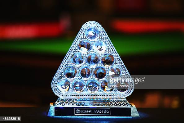 A general view of the Masters trophy on Day Five of the 2015 Dafabet Masters at Alexandra Palace on January 15 2015 in London England