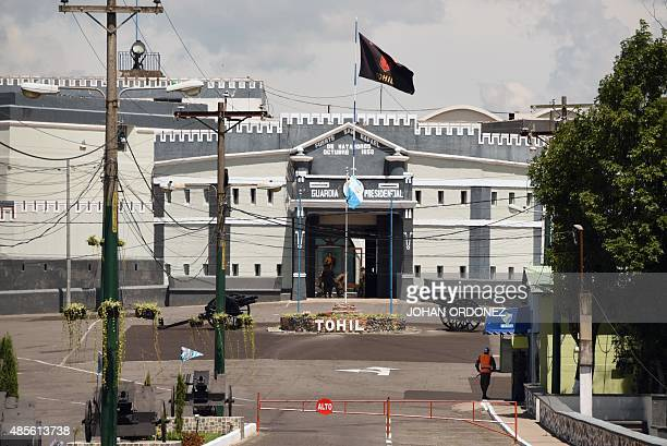 General view of the Matamoros military barracks where former VicePresident Roxana Baldetti is in preventive detention in Guatemala City on August 28...