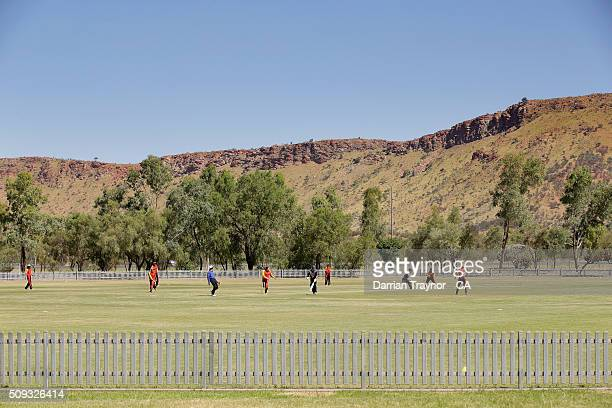 A general view of the match between South Australia and Victoria during day 3 of the National Indigenous Cricket Championships on February 10 2016 in...