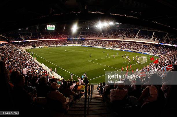A general view of the match between the Colorado Rapids and the New York Red Bulls on May 25 2011 at Red Bull Arena in Harrison New Jersey