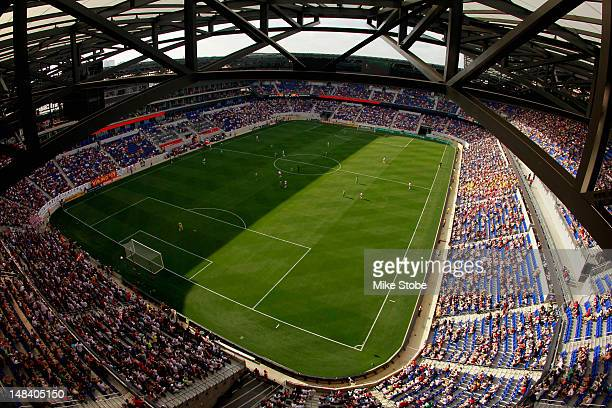 A general view of the match between the New York Red Bulls and the Seattle Sounders at Red Bull Arena on July 15 2012 in Harrison New Jersey