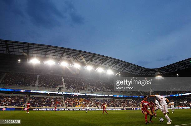 General view of the match between the New York Red Bulls and the Chicago Fire on August 13 2011 at Red Bull Arena in Harrison New Jersey The Red...