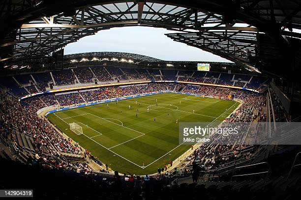 A general view of the match between the New York Red Bulls and the San Jose Earthquakes at Red Bull Arena on April 14 2012 in Harrison New Jersey