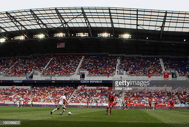 A general view of the match between Turkey and Czech Republic during their International Friendly match on May 22 2010 at Red Bull Arena in Harrison...