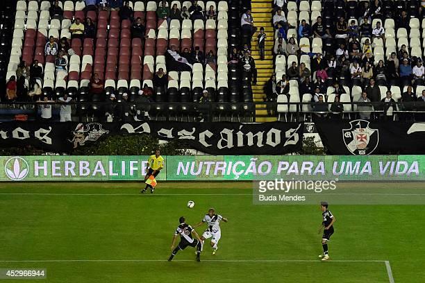 General view of the match between Vasco da Gama and Ponte Preta as part of Copa do Brasil 2014 at Sao Januario Stadium on July 30 2014 in Rio de...
