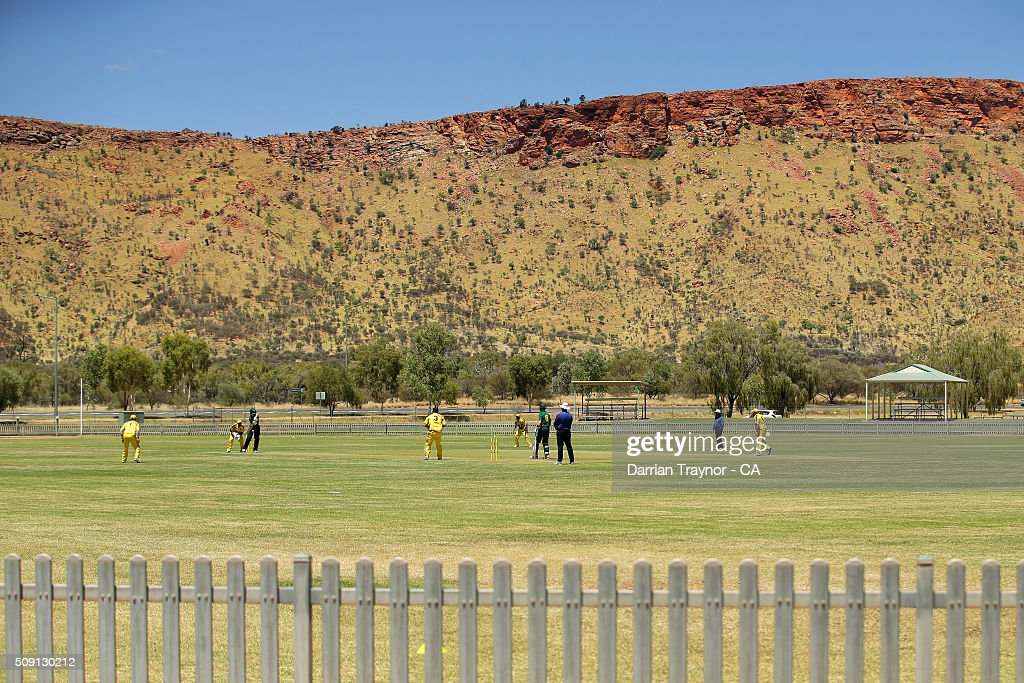 A general view of the match between Western Australia and Tasmania during day 2 of the National Indigenous Cricket Championships on February 9, 2016 in Alice Springs, Australia.