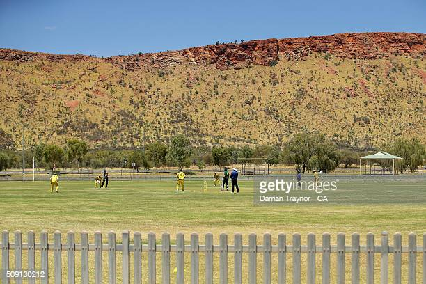 A general view of the match between Western Australia and Tasmania during day 2 of the National Indigenous Cricket Championships on February 9 2016...