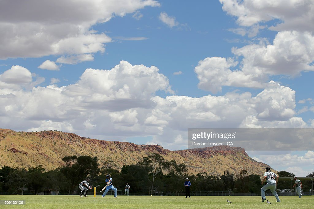 A general view of the match between Western Australia and the Northern Territory during day 2 of the National Indigenous Cricket Championships on February 9, 2016 in Alice Springs, Australia.