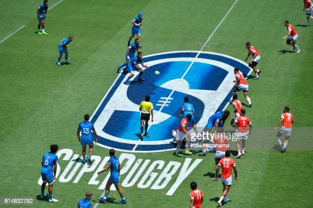 A general view of the match during the Super Rugby match between the Sunwolves and the Blues at Prince Chichibu Stadium on July 15 2017 in Tokyo Japan