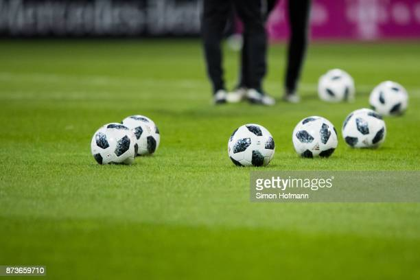A general view of the matchball during a Germany Training Session at Suedstadion on November 13 2017 in Cologne Germany