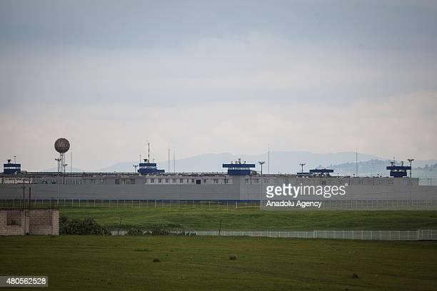 General view of the maximum security prison of Altiplano where Joaquin 'El Chapo' Guzman escaped in Almoloya de Juarez state of Mexico on July 12...