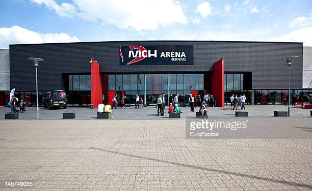 General view of the MCH Arena home of FC Midtjylland taken during the Danish Superliga match between FC Midtjylland and FC Copenhagen held on May 20...