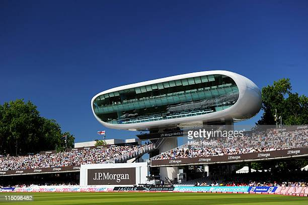 A general view of the media centre during day one of the 2nd npower Test Match between England and Sri Lanka at Lord's Cricket Ground on June 3 2011...