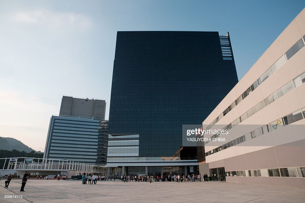 General view of the Media Press Center and International Broadcast Center during their inauguration at the Olympic Park in Rio de Janeiro Brazil on...