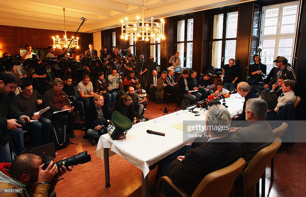 A general view of the media representatives is seen during a press conference to present the results of an investigation into allegations of...