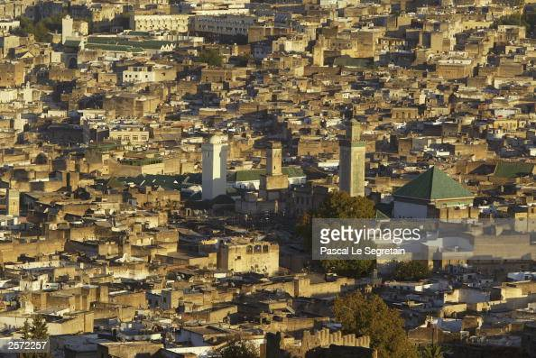 A general view of the Medina October 8 2003 in Fez Morocco French President Jacques Chirac is expected in Fez tomorrow for a threeday official visit...