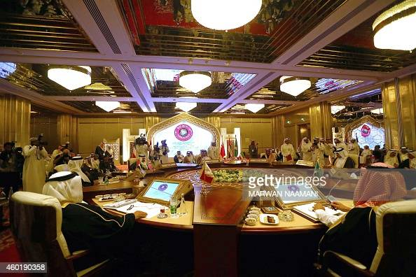 A general view of the meeting of Foreign Ministers of the Gulf Cooperation Council prior the start of the GCC summit in Doha on December 9 2014...