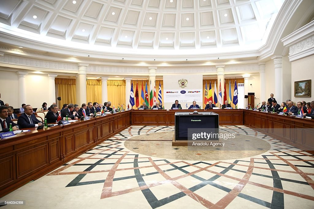 General view of the meeting of the Council of Ministers for Foreign Affairs of the Black Sea Economic Cooperation Organization (BSEC) member-states in Sochi, Russia on July 1, 2016.