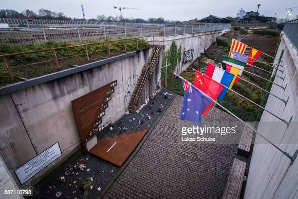 General view of the memorial to victims of the 2010 Love Parade disaster on December 6 2017 in Duisburg Germany On December 8 six city officials and...